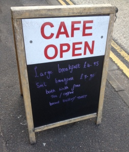 Meadow Lane Cafe Chalkboard