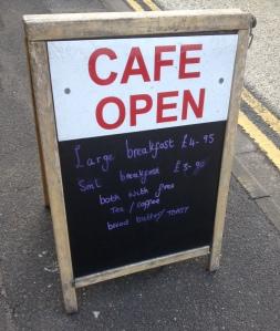 Meadow Lane Cafe Chalkboard