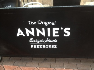 Annies Burger Shack sign