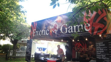 Exotic Game Stall at Nottingham Beer Festival