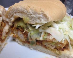 Coco Bread Sandwich