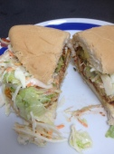 Chicken Coco Bread sandwich