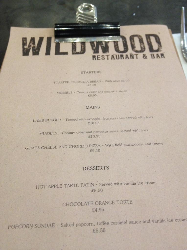 Wildwood Specials Menu