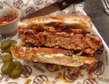 Burger half at Wildwood