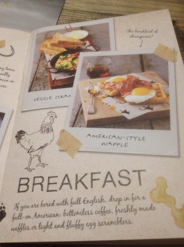 Breakfast menu at Missoula