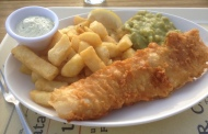 Fish and Chips at The Street Kitchen Restaurant in Wheatcrofts Garden Centre
