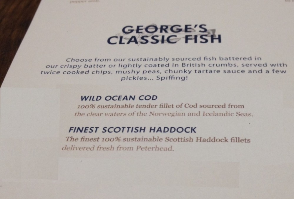 Classic Fish and Chips section