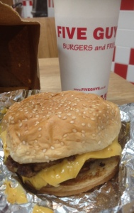 Five Guys in Nottingham – A Bacon CheeseBurger Please with some Fries