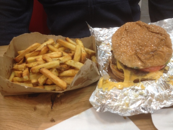 Burger and Fries at Five Guys