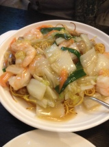 Mixed Seafood with noodles
