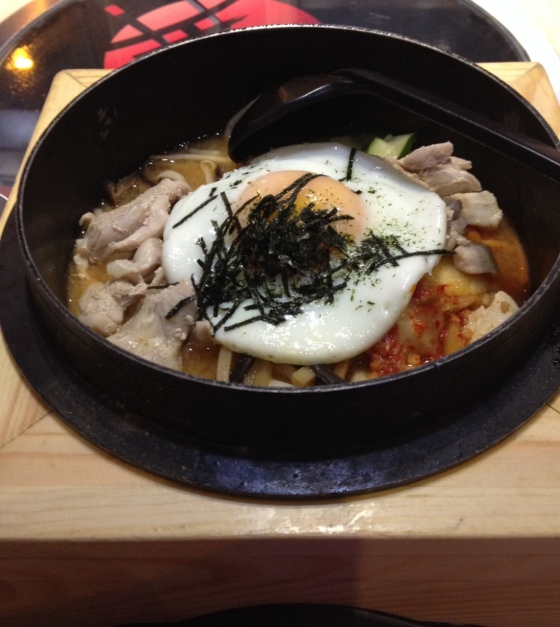 Chicken Bibimbap with Noodles at Asian BBQ