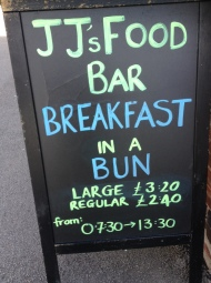 JJ's Food Bar for a Breakfast in a Bun