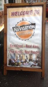 The Navigation Burger Bar sign