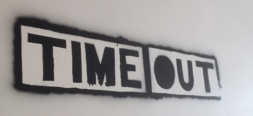 Timeout cafe sign