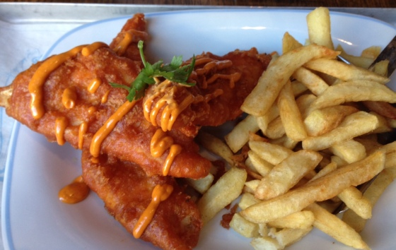Paprika battered Fish and Chips