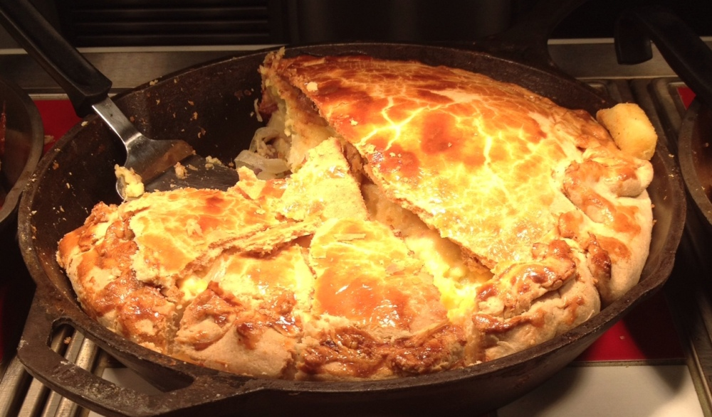 Cheese and Onion Pie at NotCutts Garden Centre