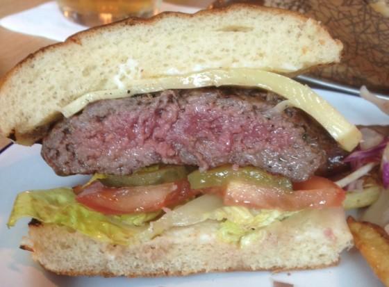 The Beef Burger at Oaks Restaurant