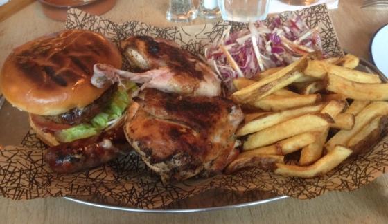 Sharing platter at Oaks Restaurant