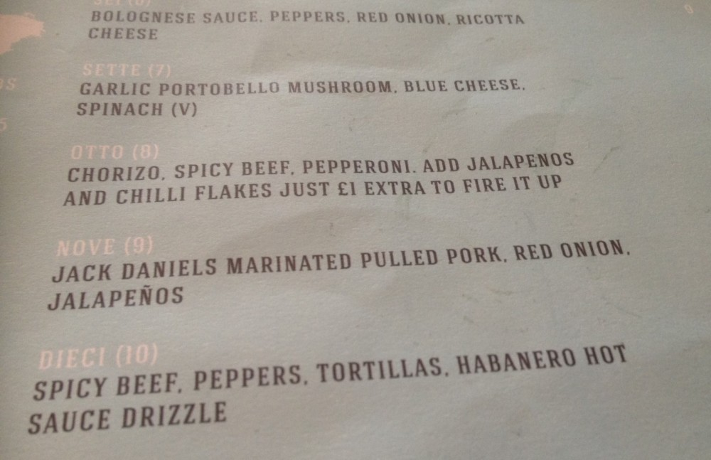 More Suede Pizza Menu