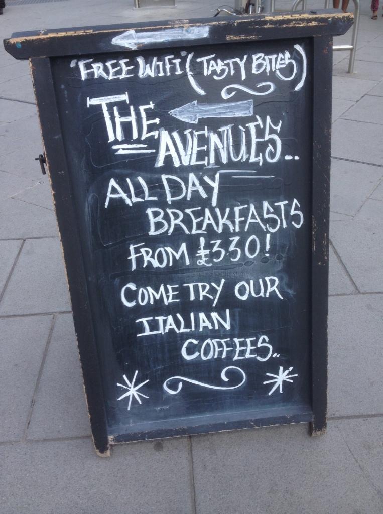 The Avenues Chalk Board