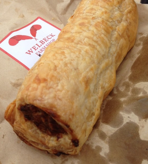 Sausage Roll at Welbeck Farm Shop