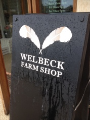 Welbeck Farm Shop Sign