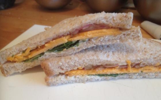 Smoked Red and Chutney sandwich