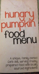 Hungry Pumpkin Menu