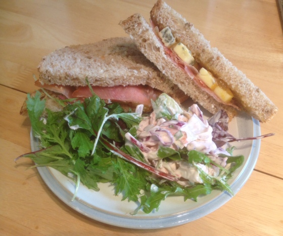 sandwich and salad at Bryers
