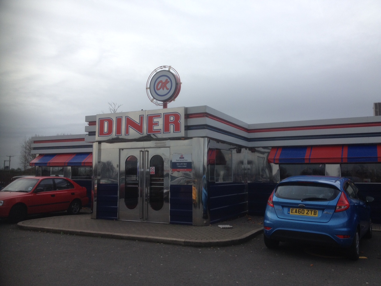 ok diner an american diner at carlton on the northbound. Black Bedroom Furniture Sets. Home Design Ideas