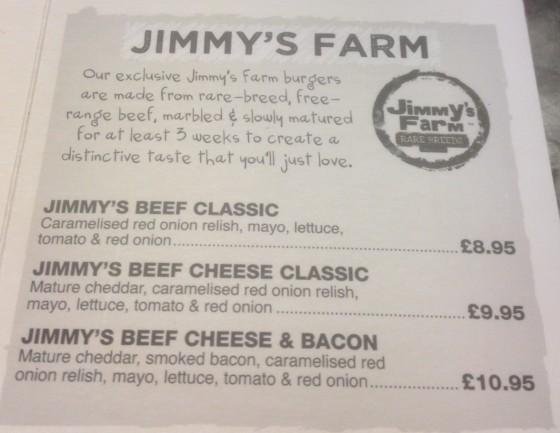 Jimmys Farm at Handmade Burger Co