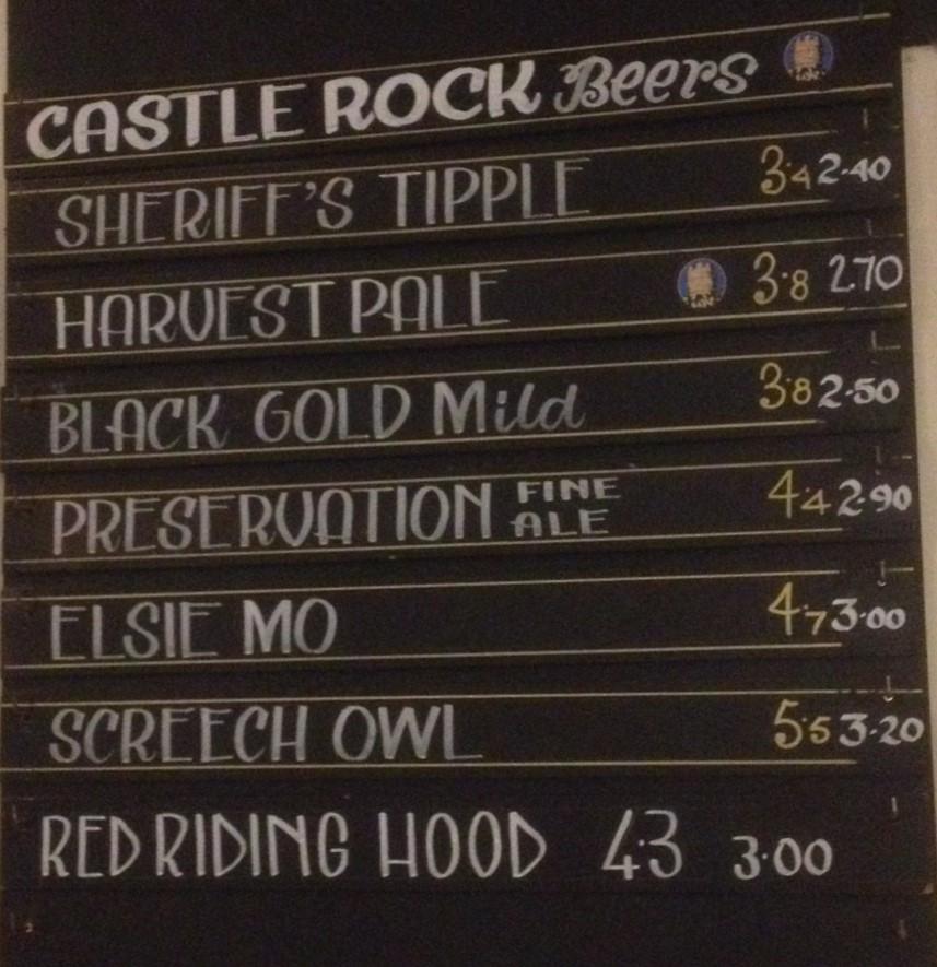Castle Rock Beers