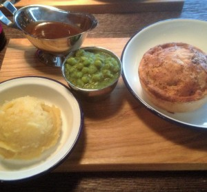 Pieminister Food on a board