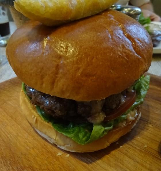Burger at Purecraft iin Nottingham