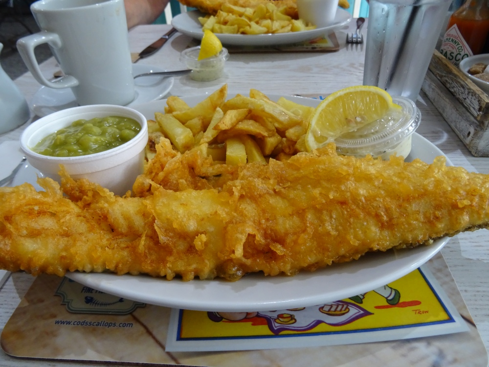Haddock and Chips at the Cod's Scallops in Sherwood