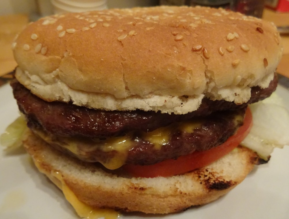 Double Cheeseburger at Cafe Pizza