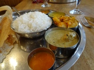 "Kayal on Broadway, excellent Southern Indian Fare- my tagline ""Five went to eat Thali"""