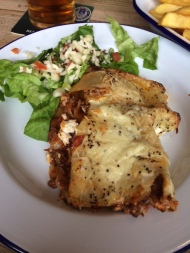 Pub Lunch at The Framebreakers in Ruddington – Today's Special was Homemade Lasagne