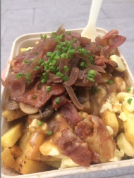 Notts Station Street Food Market – The Gravy Train Street Food stall serving up some Classic Poutine at Wolf Down Pop-Ups