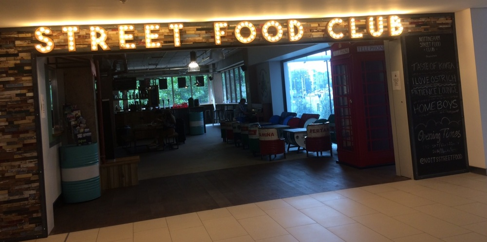 Nottingham Street Food Club Menu