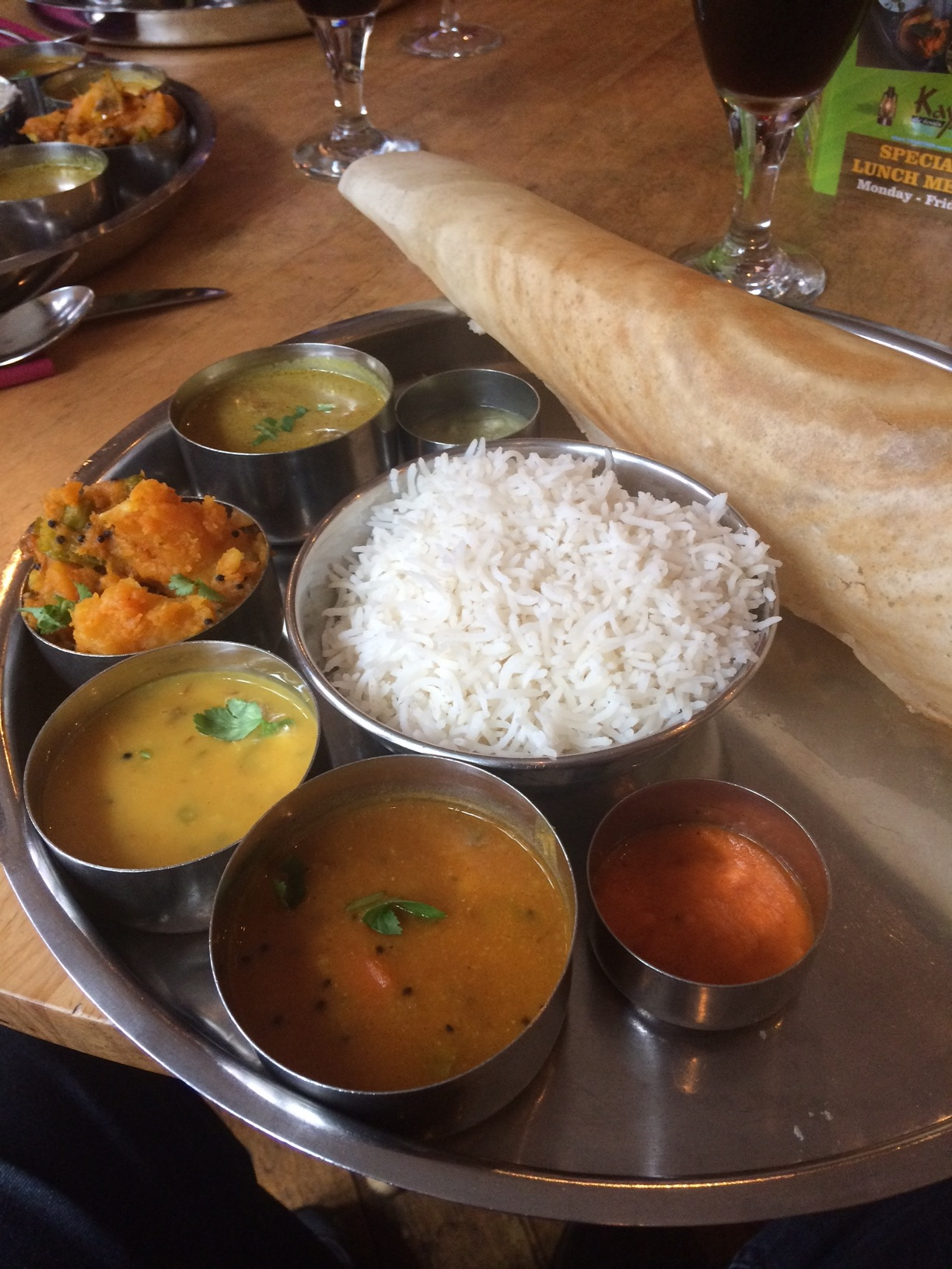 Kayal Business Lunch – The Thali